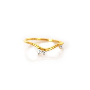 Topaz Sprinkle Arc Ring