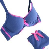 Women Sexy Solid Bra Smooth Gather Bra Sets Girls Underwear Bra Set Corset Underpants Push Up