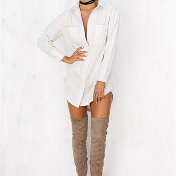 Buy BF Shirt Dress - Nude Online by SABO SKIRT