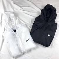 Nike Solid Color Sport Ultra Thin Long Sleeve Zip Cardigan Hooded Skin Windbreaker Coat Women Sun Protection Clothing-1