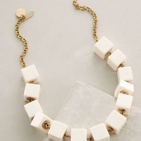 Cubed Horn Necklace by Anthropologie Ivory One Size Necklaces