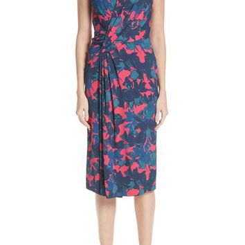 Jason Wu Fruit Print Wrap Front Crepe Dress | Nordstrom