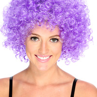 Purple Curly Afro Wig