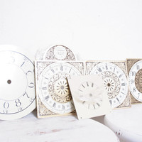 Vintage Metal Faces from an Assortment of Different Clocks, Ornate and Simple