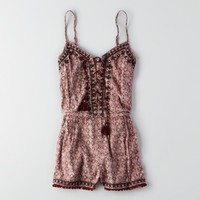 AEO MIRROR LACE-UP ROMPER