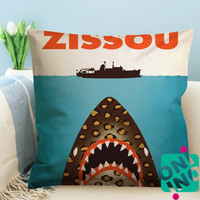 Zissou Shark Zippered Pillow Case, Cushion Case, Pillow case