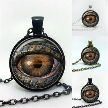 3D New Arrival Retro Evil Eye Gem Time Pendant Necklace Men's Women's Necklace Neck Steampunk Choker Jewelry 1pcs/lot