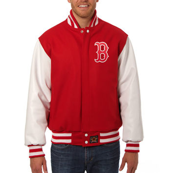 Boston Red Sox Wool And Leather Varsity Jacket