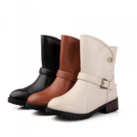 Womens Stylish Urban Casual Heel Boots