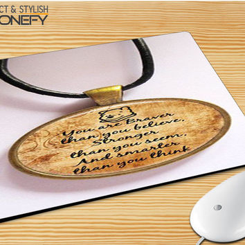 Winnie The Pooh Quotes 2 Mousepad Mouse Pad|iPhonefy