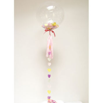 Heart Confetti Filled Balloon