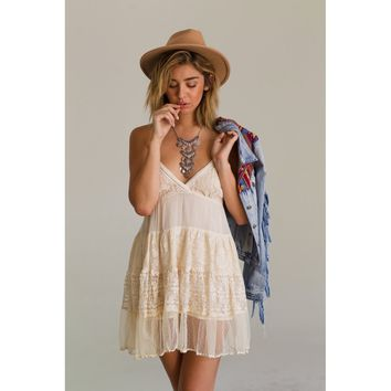 White Tiered Baby Doll Dress