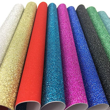 10 x 15cm Self Adhesive Gemstone Metallic Glitter Sign Vinyl Sticker Art Sheets 20 Sheets
