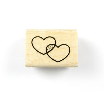 Overlapping Hearts Stamp