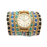 Sara Designs Leather Chain Wrap Watch | SHOPBOP