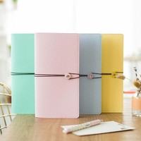Macaron New Renewable Leather Travel Notebook,Fine Portable Traveler Journal Diary Travel Note Book School Supplies
