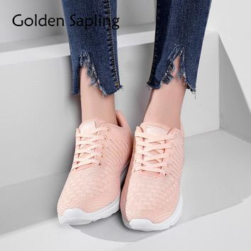 Golden Sapling Womens Tennis Shoes Woman Sneakers Breathable Air Mesh Lace Women's Sneakers Fitness Trainers Women Sport Shoes