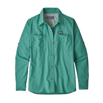 Patagonia, Women's Long-Sleeved Anchor Bay Shirt, Beryl Green