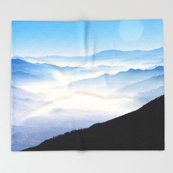 Inhale Throw Blanket by Mixed Imagery