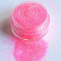 Pretty In Pink - .2mm Fine Bright Pink - Gold, Cosmetic Body and Face Glitter For Festival & Creative Makeup, Slime and Crafts