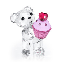 Kris Bear - Pink Cupcake - Figurines & decorations - Swarovski Online Shop