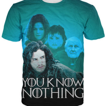 Game of Thrones You Know Nothing Jon Snow T-Shirt Women sexy tee casual summer style men t shirt fashion clothing plus size
