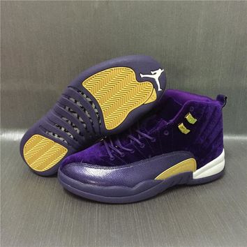 Air Jordan 12 Retro Velvet Purple Sport Shoes 36-47