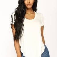 Evelina Basic Short Sleeve - White