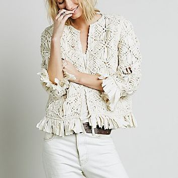 Heirloom Womens Heirloom Macrame Jacket