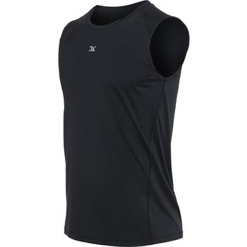 Running Vests Jogging Vansydical Mens  Compress Sleeveless T Shirt Spandex Fitness Athletic Gym Running Shirts KO_11_1