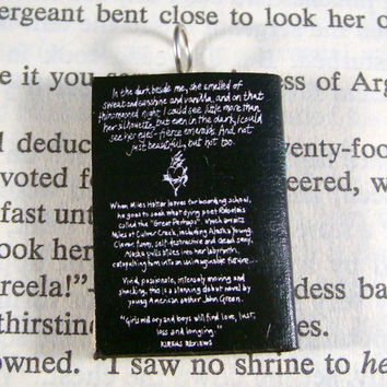 Miniature Classic Novels Book Necklace Charm Looking for Alaska Version 2 by John Green