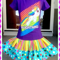 RTS girls My Little Pony Rainbow Dash twirl party Dress layers of ruffle size size 4/5 7/8 ready to ship today