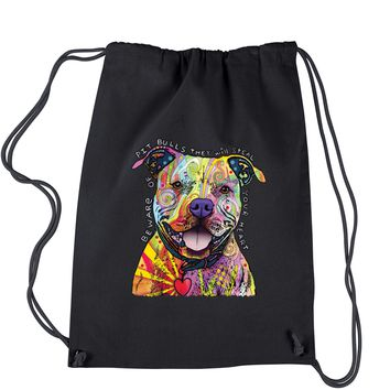 Beware Of Pit Bulls, They Will Steal Your Heart  Drawstring Backpack