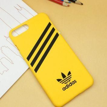 Yellow Adidas Print Sports Cover Case For Iphone 7 7 Plus & 6 6s Plus & 5s se