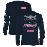 Simply Southern Pursuit Of Preppiness Jeep Palm Tree Girlie Long Sleeve T-Shirt