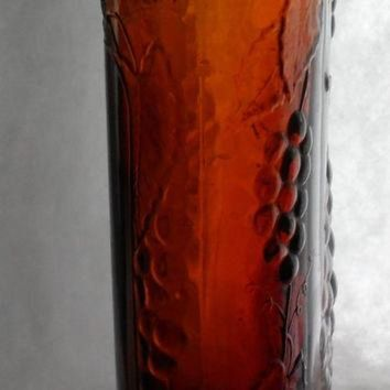 LMFUG7 RARE DIVINE WINE Bottle - Antique Canadian Brown Glass Bottle - Circa 1934 - Jordan Wi
