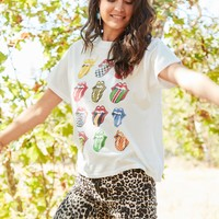 Not Fade Away Rolling Stone Graphic Tee - White