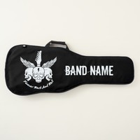 Forever Rock And Roll Skulls Wings Personalized Guitar Case
