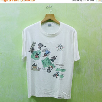15% SALES Vintage Bkliban Kliban Lazy Cats Crazy Shirt Hawaii Surfing Surf Pipeline Aloha Hawaiian Sport Summer Skateboard T Shirt