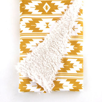 Baby Blanket Small Gold Kilim. The Cloud Blanket. Lovey. Faux Fur Baby Blanket. Minky Baby Blanket. Kilim Baby Blanket. Gold Baby Blanket.