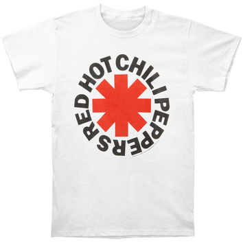 Red Hot Chili Peppers Men's  Asterisk Logo White T-shirt White Rockabilia