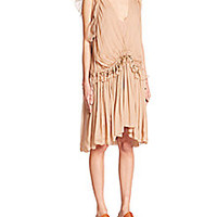 Chloé - Silk Peasant Dress - Saks Fifth Avenue Mobile
