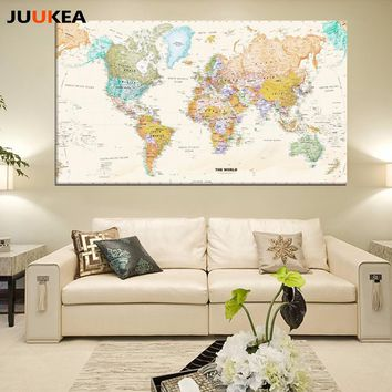 Canvas Wall Art: Vintage World Map on Canvas
