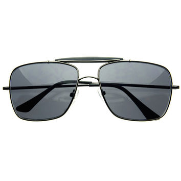 Mens Retro Style Metal Square Aviator Sunglasses Shades A84