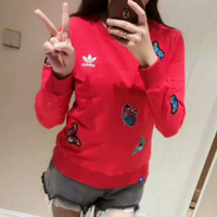 ADIDAS Fashion Long Sleeve Casual Round Neck Top Sweater Pullover Sweatshirt G-AGG-CZDL