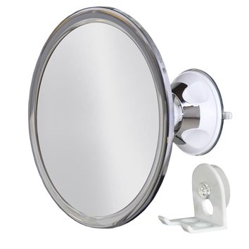 No Fog Shower Mirror with Rotating, Locking Suction; Bonus Separate Razor Holder | Adjustable Arm for Easy Positioning | Best Personal Mirror for Shaving Available | The...