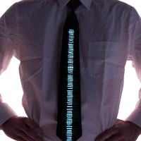 Equalizer Sound Acivated Light Up Tie---Christmas, Burning Man, Festival Clothing, EDM, Tomorrowworld,  Costume, Holiday Accessory