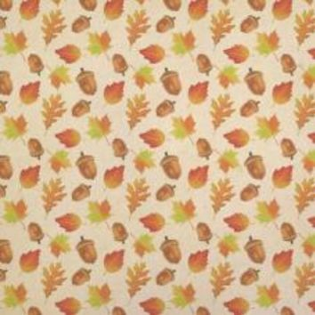 Autumn Leaves and Acorn Kraft Gift Wrapping Paper