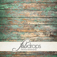 FabFloors™ - Seafoam Cottage - Old Looking Distressed Wood Floor Photography Floor Drop For Portraits, Studio Shoots, & Floor Prop (FF0510)