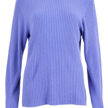 Ribbed Button Neck Sweater